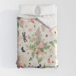 Vintage & Shabby Chic - Botanical Flower Roses Garden Duvet Cover