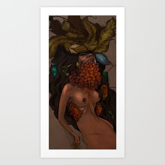 Humminden Art Print