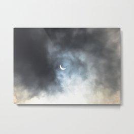 Cloudy Eclipse Metal Print