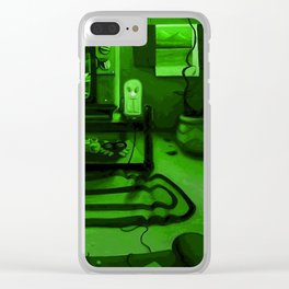 Link's gaming room - Only true gamers know Clear iPhone Case