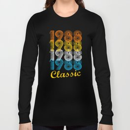 29th Birthday Gift Vintage 1988 T-Shirt for Men & Women T-Shirts and Hoodies Long Sleeve T-shirt