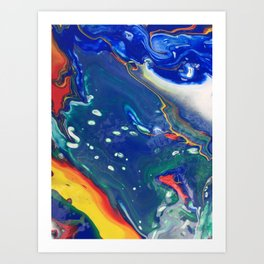 dirty pour i Art Print
