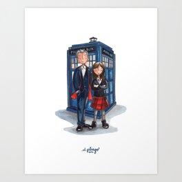 The Doctor & Clara Art Print