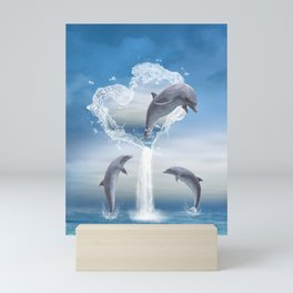The Heart Of The Dolphins Mini Art Print