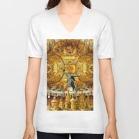 russia V-neck T-shirts featuring HISTORICAL RUSSIA by sametsevincer
