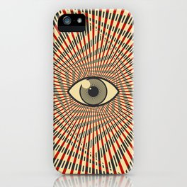 Red eye of providence iPhone Case