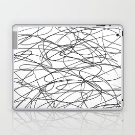 Hand Drawn Scribbles (black/white) Laptop & iPad Skin