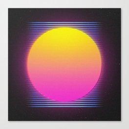 Retro 80's Neon Sunrise Canvas Print