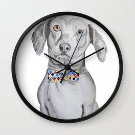 Dapper Dachshund Watercolor Dog Wall Clock