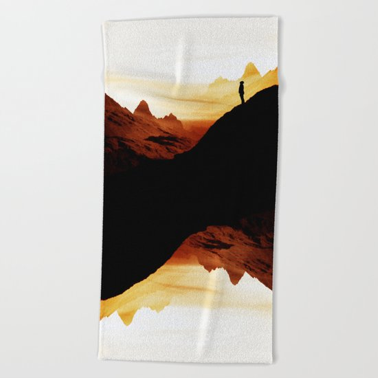 Red wasteland Beach Towel