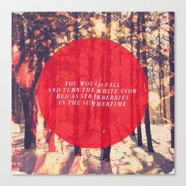 Fleet Foxes - White Winter Hymnal Canvas Print