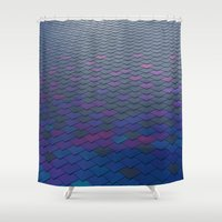 scales Shower Curtains featuring Scales by Sahara Novotny