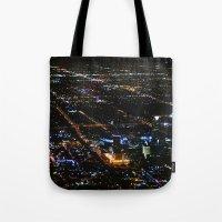 oklahoma Tote Bags featuring Oklahoma City by Nadege Torrentgeneros