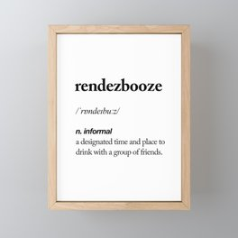 Rendezbooze black and white contemporary minimalism typography design home wall decor bedroom Framed Mini Art Print