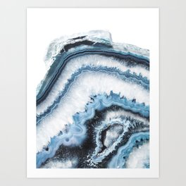 Cold Shadows Agate Art Print
