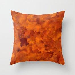 Orange red batic look Throw Pillow