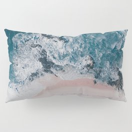 I love the sea - written on the beach Pillow Sham