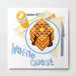 Waffle Quest Metal Print