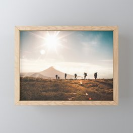 Hiking the ring of fire - travel photography & landscapes Framed Mini Art Print