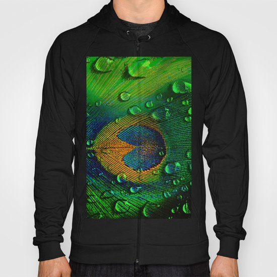 Drops on peacock  (This Artwork is a collaboration with the talented artist Agostino Lo coco) Hoody