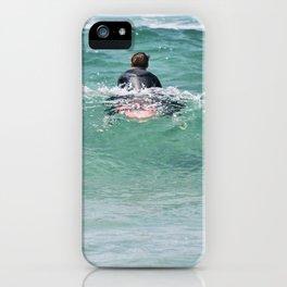 Surf, the wait. iPhone Case