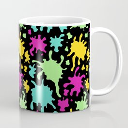 Colorful Paint Splatter Pattern Coffee Mug