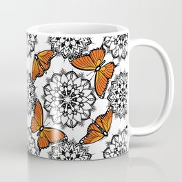 Butterflies and mandalas 1 Coffee Mug