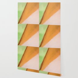Abstract Pink Orange and Green Shades.   Like painted on canvas. Wallpaper