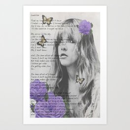 Stevie Nicks Poster, Fleet-wood mac poster, Art Print