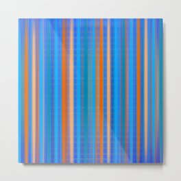 Glow Stripes Metal Print