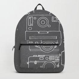 Vintage Camera Illustrations on Chalkboard Backpack