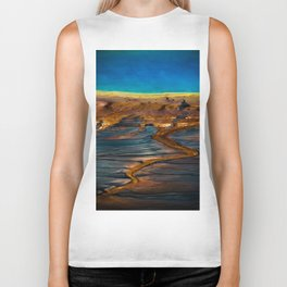 Earth in Full Color Biker Tank
