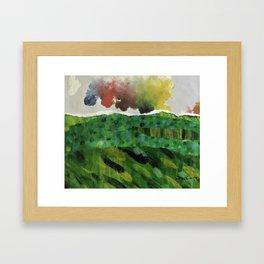 Under the Rainbow Sky #rainbow #collage Framed Art Print