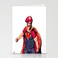 super mario Stationery Cards featuring Super Mario by Mastodon