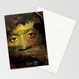 Looking at you from a deep forest. Stationery Cards