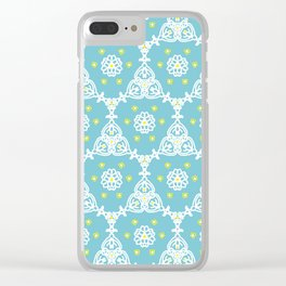 Lacy Blue Clear iPhone Case