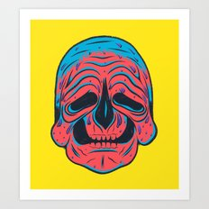 SLOPPY SKULL Art Print