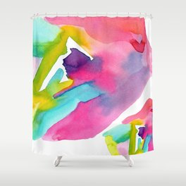 Follow Your Heart - watercolor abstract minimalism modern art Shower Curtain