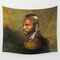 replaceface Wall Tapestries featuring Mr. T - replaceface by replaceface