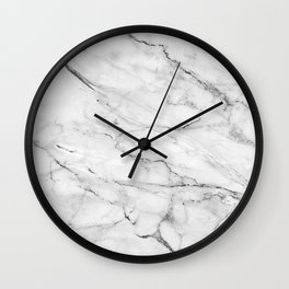 Classic white and gray marble texture No.2 Wall Clock