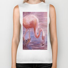 """Flamingo Time"" Biker Tank"