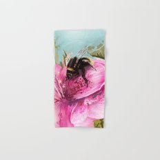 Bee on flower 17 Hand & Bath Towel