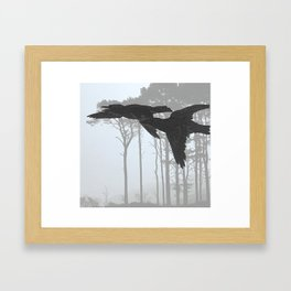 Crow Goes Hunting Framed Art Print