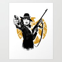 peggy carter Art Prints featuring Agent Peggy Carter by PawixZkid
