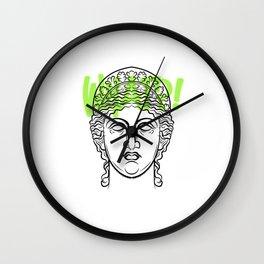 Greek philosopher Roman statues minimalistic light Wall Clock