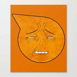soul eater symbol- excalibur face Canvas Print