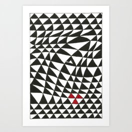 Triangles Art Print