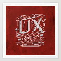 UX - Industrial Design - Red Art Print