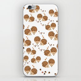Hedgehogs in autumn iPhone Skin