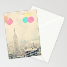 Balloons over the City Stationery Cards